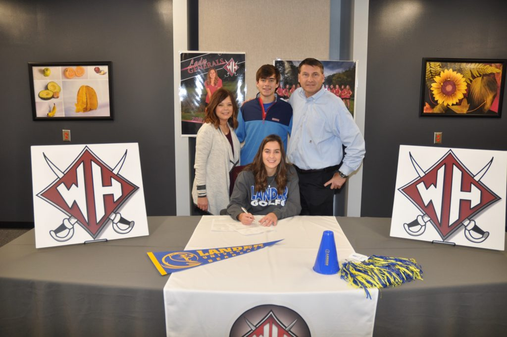 Chloe Hitt Lander University National Golf Signing Day