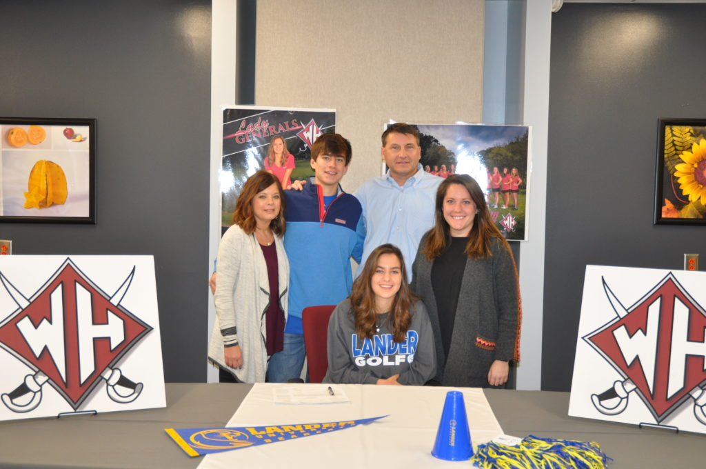 Chloe Hiott's Lander University Women's Golf Signing Day