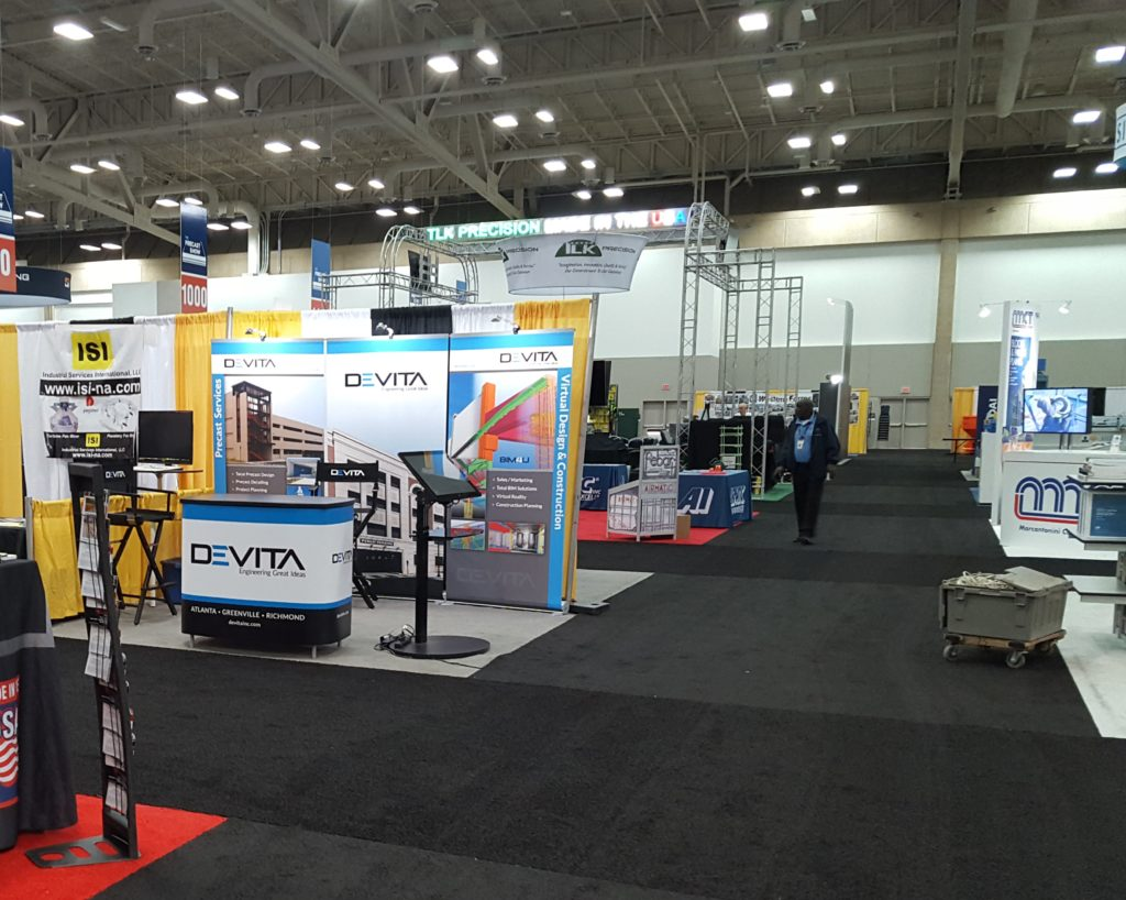 DEVITA's Exhibit Booth at the Precast Show