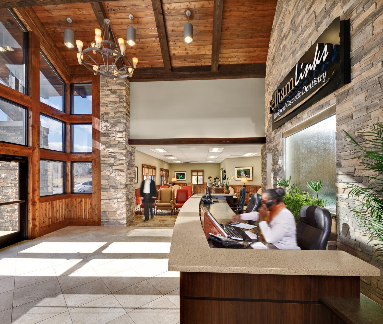 Picture of the Lobby of Pelham Links Family Dentistry.
