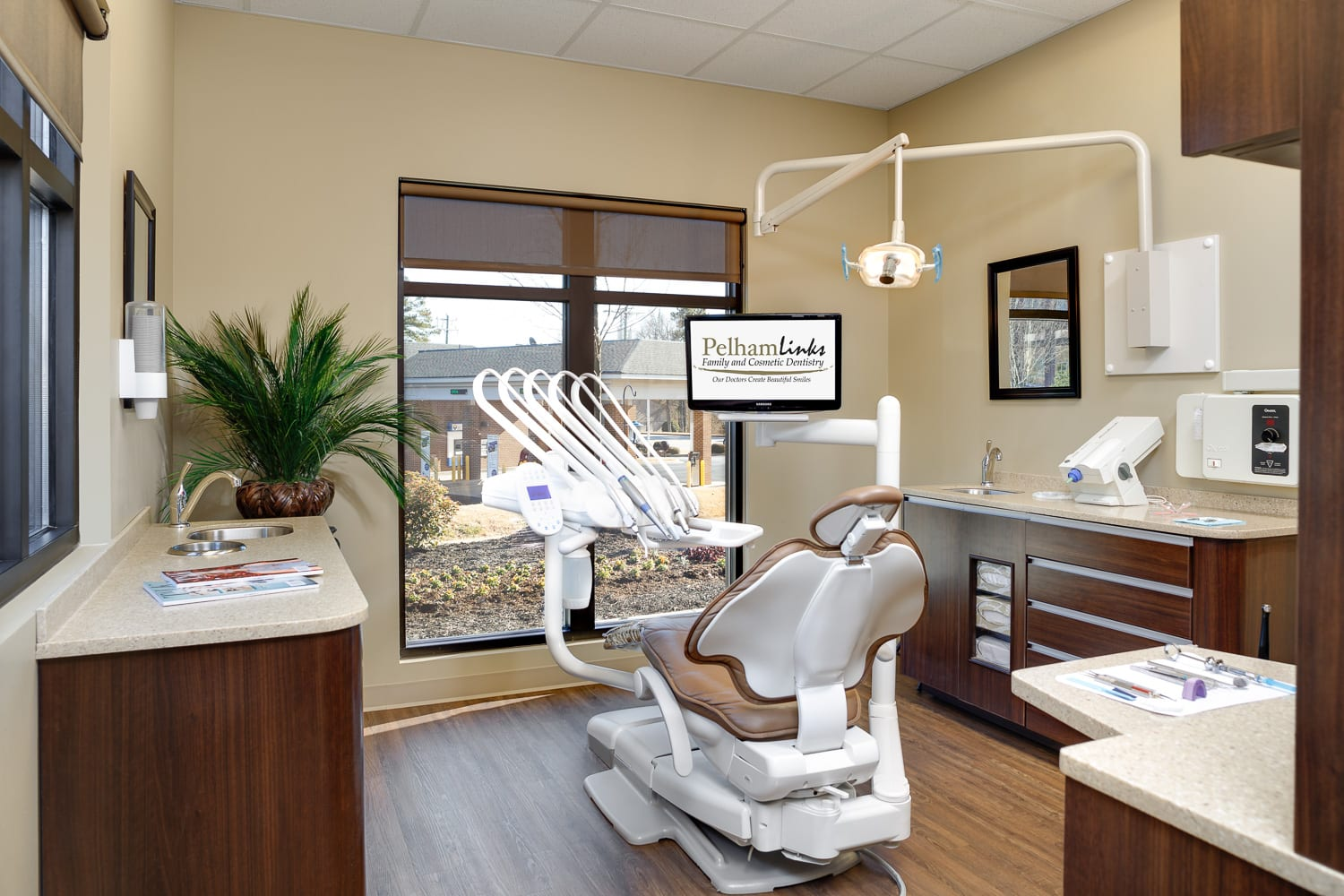 Picture of the office area of Pelham Links Family Dentistry.