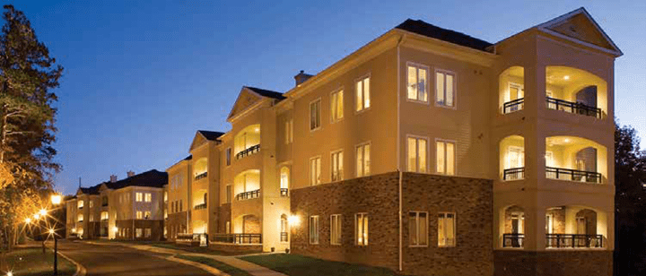 view of assisted living apartment building at The Pines at Davidson